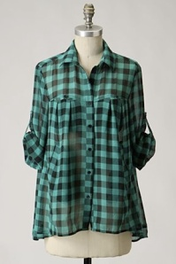 GreenBlackCheck Anthropologie