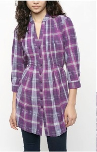 Purple Plaid Tunic URBN